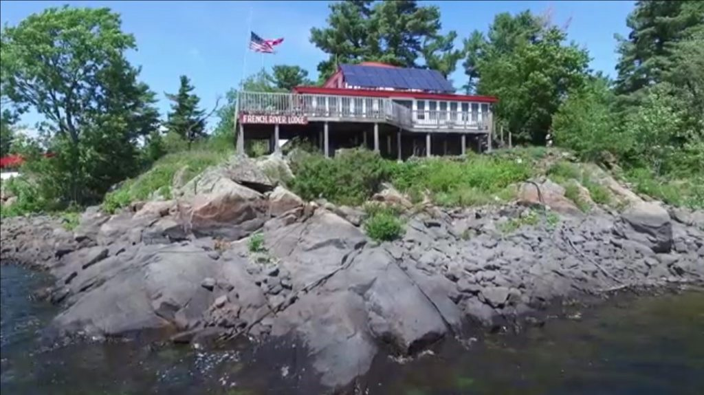 French river island fishing lodge waterfront property for Fishing lodge for sale